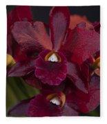 Dusty Red Orchid Fleece Blanket