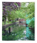 Dutch Canal Fleece Blanket