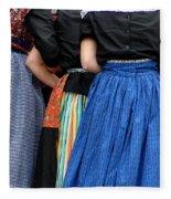 Dutch Dancers In A Huddle Fleece Blanket
