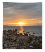 Dutch December Beach 002 Fleece Blanket