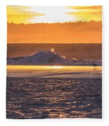 Dutch December Beach 003 Fleece Blanket