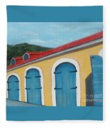 Dutch Doors Of St. Thomas Fleece Blanket