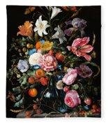 Dutch Still Life #2 Fleece Blanket