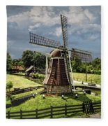 Dutch Windmill Near The Zuider Zee Fleece Blanket