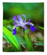 Dwarf Crested Iris Fleece Blanket