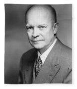 Dwight Eisenhower Fleece Blanket