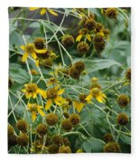 Dying Sun Flowers Fleece Blanket