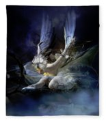 Dying Swan Fleece Blanket