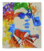 Dylan Watercolor Fleece Blanket