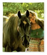 Dylly And Lizzy Fleece Blanket