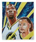 Dynamic Duo - Durant And Curry Fleece Blanket
