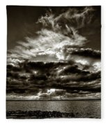 Dynamic Sunset - Sepia Fleece Blanket