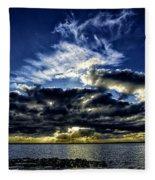 Dynamic Sunset Fleece Blanket