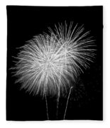 Bang Bang Black And White  Fleece Blanket