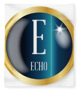 E For Echo Fleece Blanket