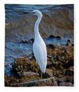 Eager Egret Fleece Blanket