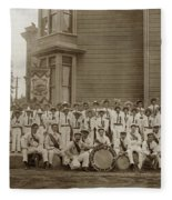 Eagle Band's Drum Corps. Native Sons Of The Golden West  Circa 1908 Fleece Blanket