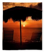 Eagle Beach Sunset Fleece Blanket