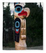 Eagle Clan Totem Pole Fleece Blanket