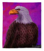 Eagle Crimson Skies Fleece Blanket