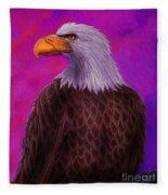 Eagle Crimson Skies Fleece Blanket