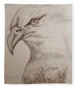 Eagle Drawing 1 Fleece Blanket