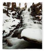 Eagle Falls Raging On Ice Fleece Blanket