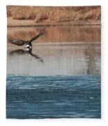 Eagle Fishing Fleece Blanket
