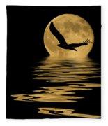 Eagle In The Moonlight Fleece Blanket