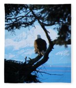 Eagle - Mt Baker - Eagles Nest Fleece Blanket