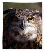 Eagle Owl 3 Fleece Blanket