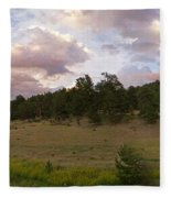 Eagle Rock Estes Park Colorado Fleece Blanket