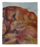 Eagle Rock In Valley Of Fire Fleece Blanket