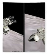 Eagle Shuttle - Gently Cross Your Eyes And Focus On The Middle Image Fleece Blanket
