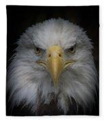 Eagle Stare Fleece Blanket