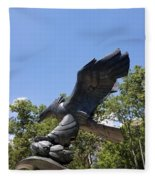 Eagle Statue  Fleece Blanket