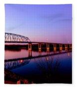 Eagle Watch Along The Mississippi Fleece Blanket