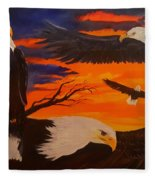 Eagles Are Back                 76 Fleece Blanket