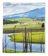 Eagles View, Hayden Valley, Yellowstone Fleece Blanket