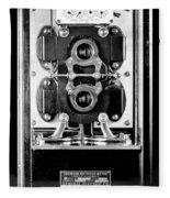 Early 1900s Type Cs Watthour Meter In Black And White Fleece Blanket