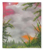 Early Autumn Moon Fleece Blanket