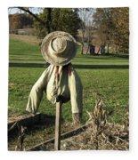 Early Autumn Scarecrow Fleece Blanket