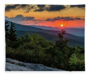 Blue Ridge Parkway Sunrise - Beacon Heights - North Carolina Fleece Blanket