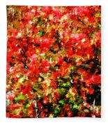 Early Color Painting Fleece Blanket
