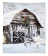 Early December Snowfall Morning Fleece Blanket