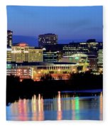 Early Evening In Hartford Fleece Blanket