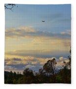 Early Evening Sunset 2 Fleece Blanket