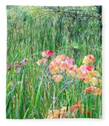 Early Fall Color Fleece Blanket