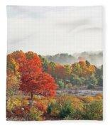 Early Fall Morning Fleece Blanket