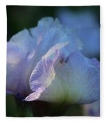 Early Iris Sunshine Fleece Blanket
